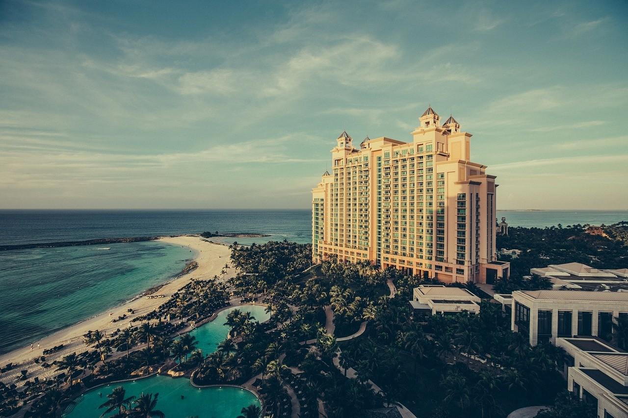 バハマ  ホテル 海岸 ビーチ 風景
