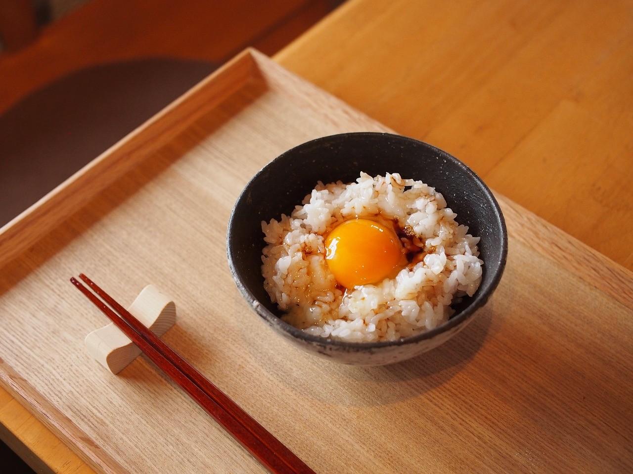 お米 卵かけご飯 食事 和食
