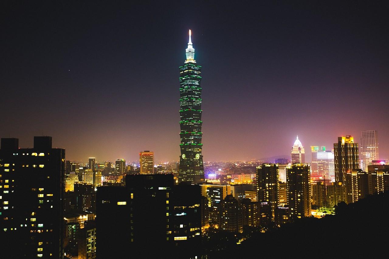 台湾 風景 ビル 街並み